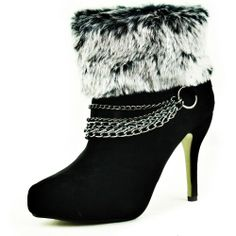 Damita K Women's Amy-05 Fur Ankle Boots