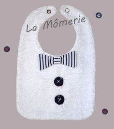 Bavoir bébé garçon chic noeud marin : Mode Bébé par la-momerie Cute Baby Gifts, Bib Pattern, Baby Clothes Patterns, Baby Couture, Baby Design, Sewing For Kids, Craft Gifts, Baby Toys, Crafts To Make