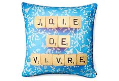 Joie 20x20 Pillow, Blue