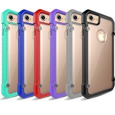 Soft TPU Frame Hybrid Transparent Back Case For iPhone 7 PLUS Protective Case #UnbrandedGeneric