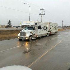 Big Rig Trucks, Semi Trucks, Old Trucks, Rv Bus, Rv Campers, Nitro Express, Motorhome Conversions, Rv Motorhomes, Luxury Rv