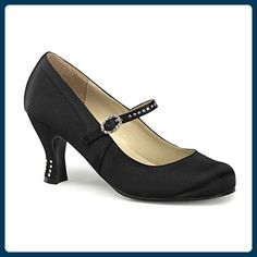 Satin Pumps schwarz Größe  41 - Damen pumps ( Partner-Link) Halloween 59f2d4ab9d
