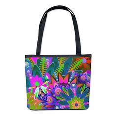 Psychedelic Flower Power Bucket Bag