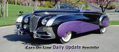 1948 Soautchik Cadillac Series 62 Convertible purple cars, purple trucks, purple SUV, purple classic cars, purple muscle cars Weird Vintage, Vintage Cars, Antique Cars, Chevy Ssr, Cadillac Series 62, Coach Builders, Hot Rides, Old Cars, Motor Car