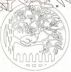 Paper Cutting Patterns, Stencil Patterns, Stencil Designs, Kirigami, Paper Pot, Diy Paper, Paper Crafts, Stencils, Pyrography Patterns