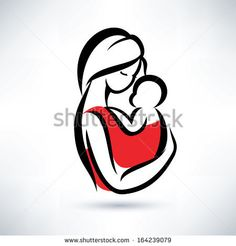 mom and baby vector symbol by baldyrgan, via Shutterstock