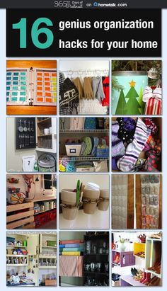 A great collection of easy and realistic ideas for organizing all parts of the home!