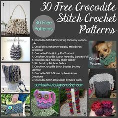 Welcome to Free Crochet Pattern Friday! I hope you enjoy these links! This week's FCPF (Free Crochet Pattern Friday) Category is: Patterns Using the Crocodile Stitch Share this post with your frien...