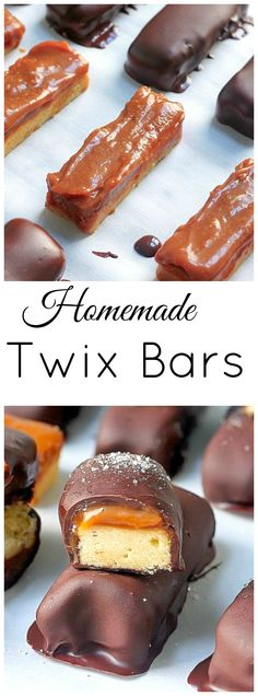 """Dark Chocolate and Salted Caramel """"Twix"""" Bars - so much better than the store bought stuff!"""
