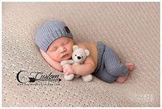 Victor Gray Knit Pants with Matching Hat, Newborn Pants Photography Prop, Knit Pants, Knit Hat, Baby Boy Props, Newborn Pants, Photo Props, Handmade Clothing Custom Photo Props http://www.amazon.com/dp/B00UXVAH7M/ref=cm_sw_r_pi_dp_a-Ywwb1W329KR