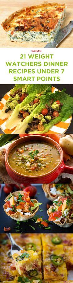 21 Weight Watchers Dinner Recipes Under 7 Smart Points (Diet Recipes Weightloss)