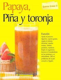 Papaya, Pineapple & Grapefruit smoothie