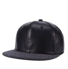 8a48fe09e68 Woolen Cap Peak Faux Leather Unisex Sliding Plate Baseball Cap 309