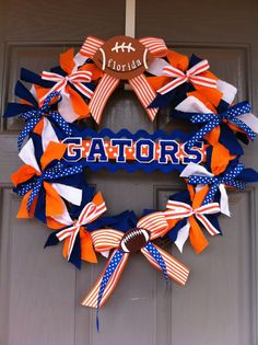 Gators wreath!  Too cute!