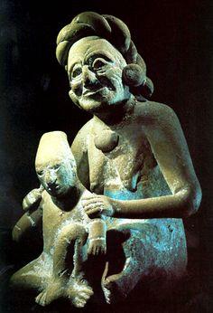 Maya Seated Elderly Figurines