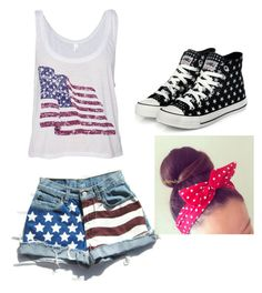 4 of July look! by motterhayden on Polyvore featuring polyvore, fashion, style, yeswalker and clothing