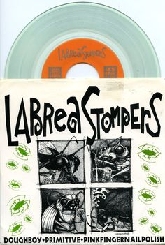 """Labrea Stompers 1992 'Doughboy' Alt-Rock Funk Noise 7"""" Clear Vinyl Ex+ Check out all our vinyl at Rock On Collectibles: http://stores.ebay.com/Rock-On-Collectibles/Vinyl-LPs-Singles-/_i.html?rt=nc&_fsub=7421951&_sid=70220124&_trksid=p4634.c0.m14.l1513&_pgn=16"""