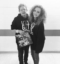 """""""me and Nanna Pam at Sheffield yesterday :) she's never been outside of South Shields her whole life! Over the moon she came all that way to see the show…"""""""