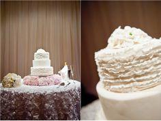 Ruffle Wedding Cake ...................... Austin Wedding and Portrait photographer, Amelia Tarbet. » Austin Wedding Photographer