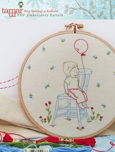 The Latest Trend in Embroidery – Embroidery on Paper - Embroidery Patterns Paper Embroidery, Cross Stitch Embroidery, Embroidery Patterns, Embroidery Techniques, Marker, Needlework, Balloons, Creations, Quilts