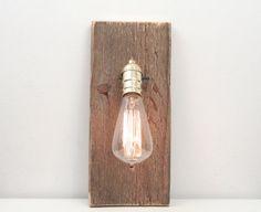 Wall Lamp III Rustic Wall Sconce Barn Wood Lamp by WorleysLighting, $60.00