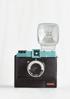 Diana F+ Instant Camera in Nightfall. Celebrate the unique, retro style of Lomography with this Diana instant camera! #black #modcloth