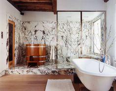 East Village Townhouse - New York - Interior photo of bathroom - Selldorf Architects