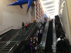 In this photo, roughly 35 people are traveling between two points. Four of them are doing it manually, with about eight times that number opting for electric assist. Obviously no one in this photo is on a bike, but stairs versus escalators offer an elegant example of the difference a simple electric assist can make between otherwise identical modes. And, therefore, an example of how electric bikes may appeal to many, many more people than normal manual bikes.