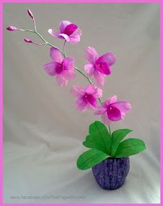 Crafty little Beanut!: Crepe paper Orchid