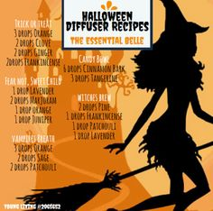 halloween diffuser blends But with dōTERRA of course Essential Oil Diffuser Blends, Doterra Essential Oils, Young Living Essential Oils, Diffuser Recipes, Aromatherapy Oils, Living Oils, Belleza Natural, At Least, Samhain