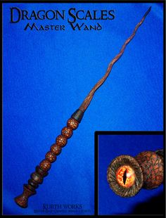 Kurth Works Custom Hand Carved Magic Wizard Wands and Staffs Wizard Staff, Wizard Wand, Wooden Wand, Male Witch, Harry Potter Halloween, Harry Potter Wand, Dragon Scale, Magic Eyes, Dragon Eye