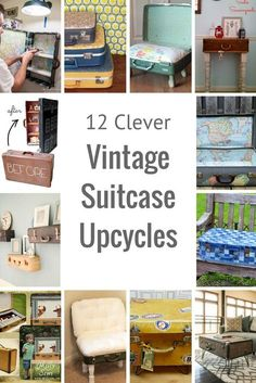 vintage furniture 12 Amazing and unique ways to upcycle vintage suitcases. From decoupage, to clever furniture and even a dolls house. Decoupage Furniture, Furniture Logo, Ikea Furniture, Repurposed Furniture, Furniture Making, Vintage Furniture, Cool Furniture, Modern Furniture, Luxury Furniture