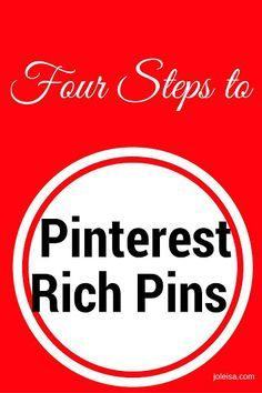 Pinterest rich pins is the way to go if you want to have repeat visitors. Follow these four steps and pics to get the job done in no time! Xkx