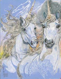 Fantasy Two Unicorns Original Artwork by Rosalie by biggirl4664, $38.00