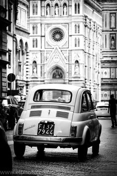 Fiat 500 Florence by Pembrokeshire Photographers Eiry & Meurig on Fiat Cinquecento, Fiat 500c, Vespa, Microcar, Vintage Italy, Car Posters, Small Cars, Florence Italy, Lamborghini Gallardo
