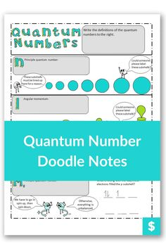 Are you looking for a fun and creative way to quantum numbers, orbitals, subshells,or electron configuration to high school students? Or even make it easy for homeschool moms to learn? These notes illustrate the difference in orbital. Then they walk students through the process for finding quantum numbers step by step. Plus, they are color coded to make learning easier! #chemistry Chemistry Classroom, High School Chemistry, Teaching Chemistry, Chemistry Worksheets, Chemical Equation, Teaching Strategies, High School Students, Student Learning