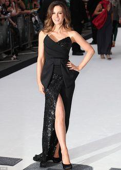 kate beckinsale-black dress#bow
