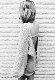 perfect oversized sweater; wear with cutoffs for a cool summer night