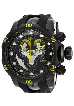 Invicta Men's Venom Reserve Chrono Black Silicone and Dial - Watch 14459, #Invicta, #14459, #WatchesDiverQuartz