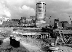 Bull Ring area in the 1960s with redevelopment underway.