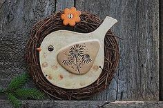 Clay Birds, Ceramic Birds, Ceramic Clay, Ceramic Pottery, Farm Crafts, Diy And Crafts, Celtic Symbols And Meanings, Biscuit, Polymer Clay Projects