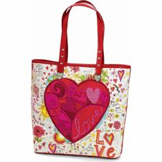 Hearts A-Blaze Tote  available at #Brighton I love 'my' Brighton hearts!