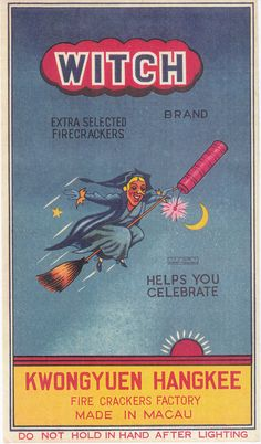 Cool vintage firecracker label