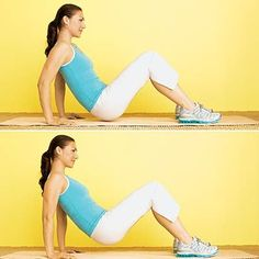Stop arm jiggle with this crab sit with dip move. #fitness | Health.com