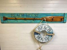 Paddle Oar Coat Rack With Vintage Hooks House by CastawaysHall