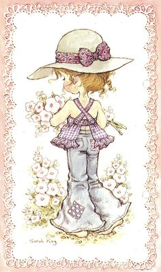 trendy Ideas for baby ilustration girl sarah kay Sarah Key, Holly Hobbie, Vintage Pictures, Cute Pictures, Papier Kind, Digi Stamps, Illustrations, Cute Illustration, Vintage Flowers