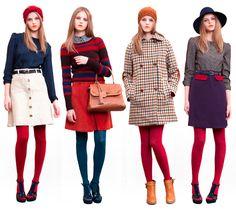 Sessun Anna Karina colored tights inspiration