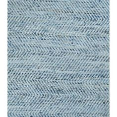 ATLAS RUG LIGHT WHITE/BLUE - DENIM & LEATHER 160X230CM   C/O pg46