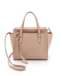 0347029dd7 Small amy tote by Salvatore Ferragamo. An elegant Salvatore Ferragamo  handbag in wrinkled leather. Zip front pocket and zip top.