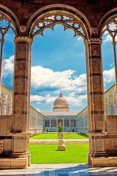 Pisa, Tuscany region, Italy - Camposanto Monumental  SACI course field trips include #Pisa!  http://www.saci-florence.edu/17-category-study-at-saci/90-page-field-trips.php